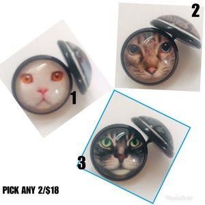 Jewelry - 𝕙𝕡! 2/$18 Kitty Cat Meow Earrings Mix & Match